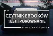 czytnik ebookow test porownanie kindle