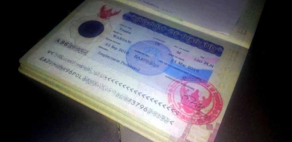 visa run w Tajlandii