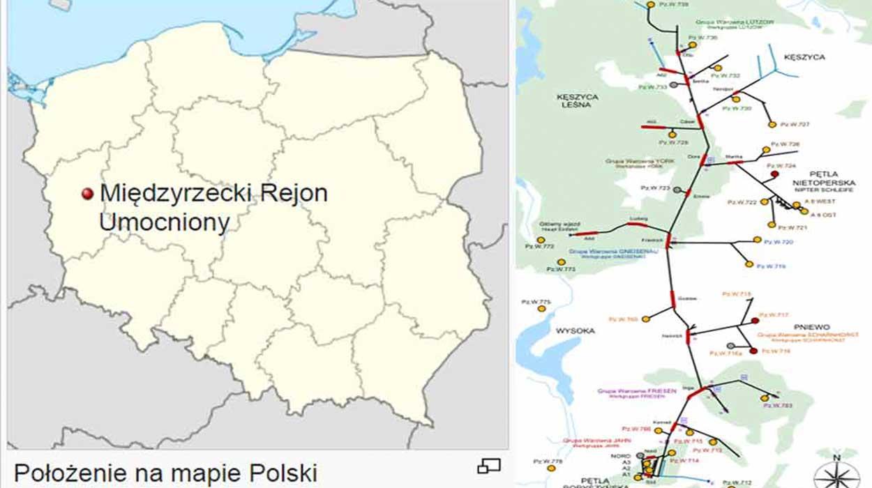 Międzyrzecki rejon umocniony mru bunkry nietoperek polska podziemia