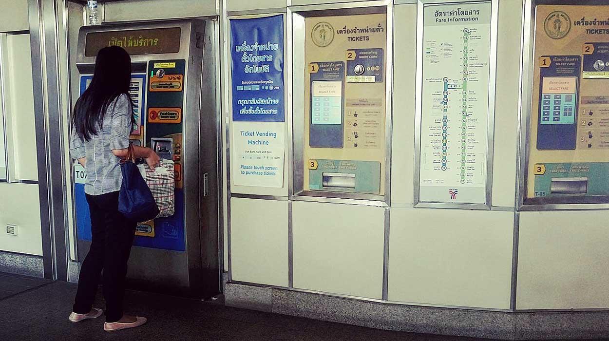 transport w bangkoku kolejka lotnisko metro skytrain cena