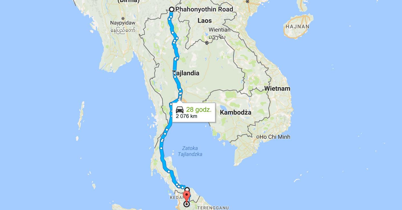 pierwszy raz w tajlandii blog porady 10 bledow Tajlandia - odleglosci