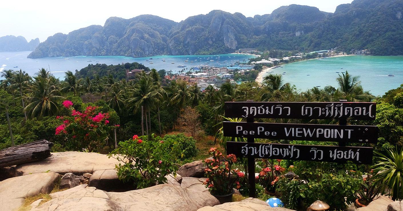 punkt widokowy na wyspie ko phi phi blog o Tajlandii