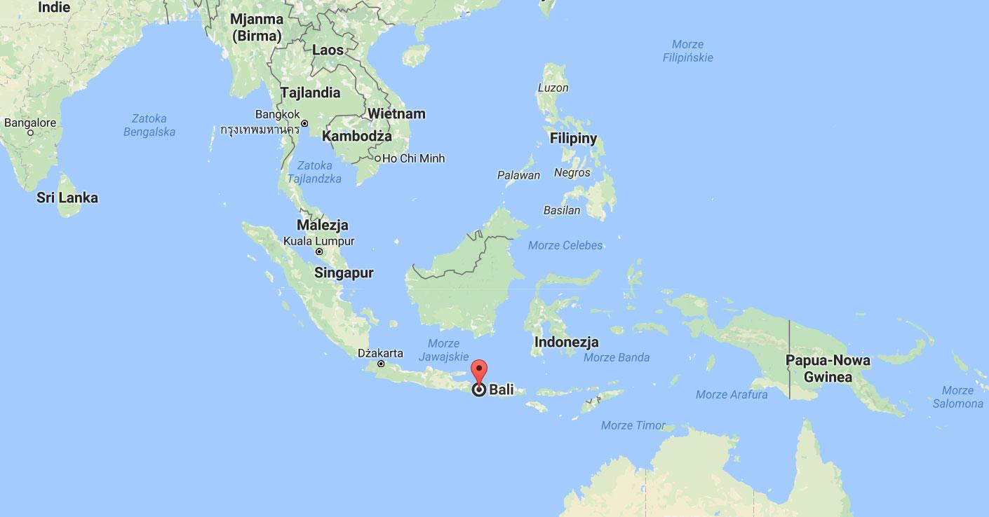 Bali indonezja mapa