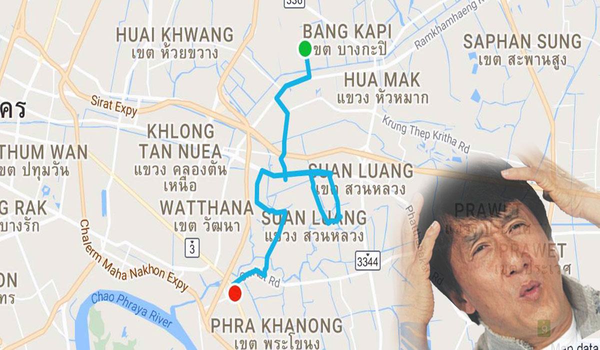 mapa tajlandia uber taksówka jak transport