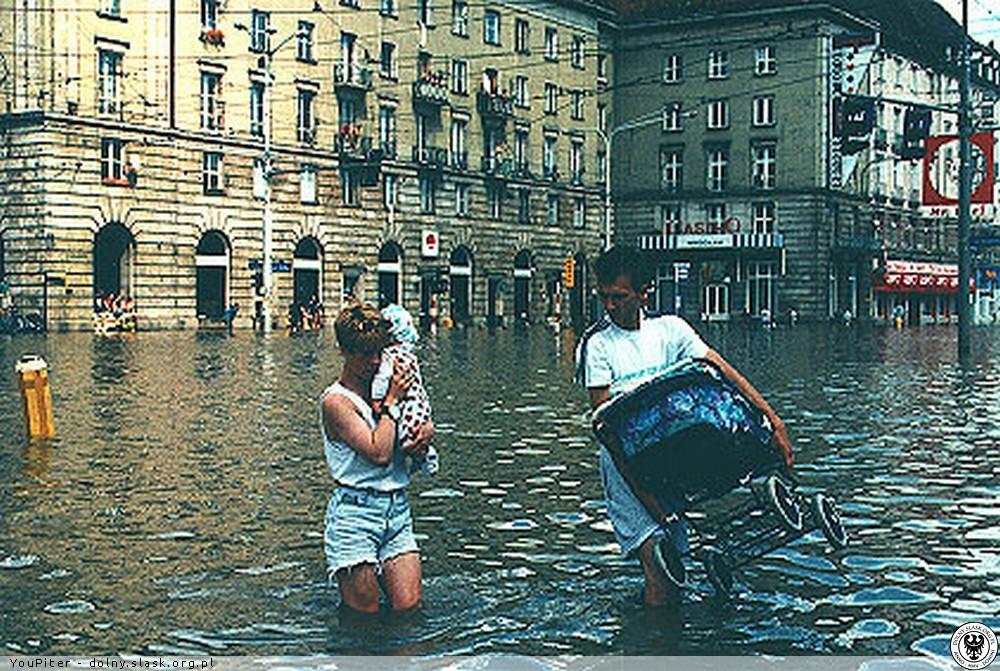 powódz wroclaw polska 1997 stulecia