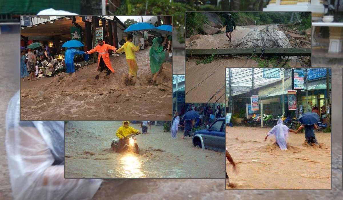 powodz koh styczen tao tajlandia 2017
