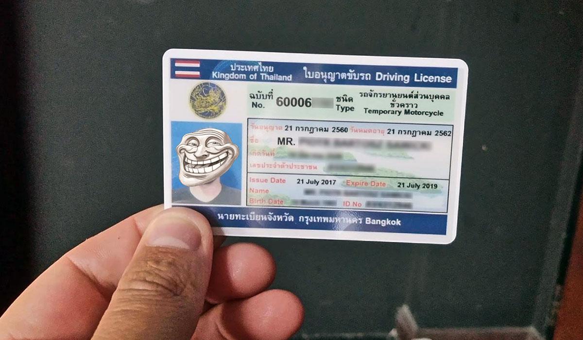 jakie prawo jazdy tajlandia skuter motor samochod