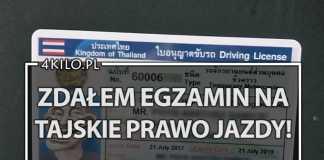 prawo jazdy w tajlandii tajskie azja cena koszt mandat