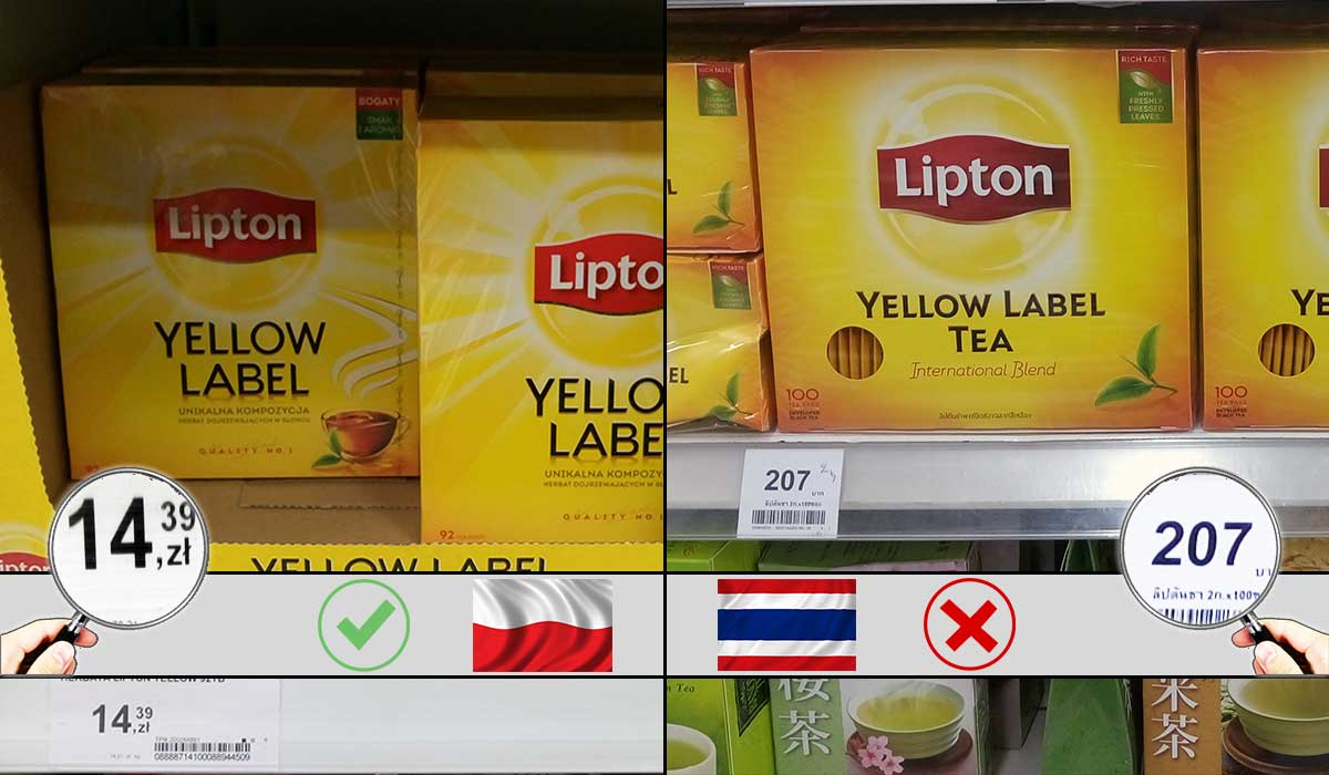 ceny Polska herbata cukier
