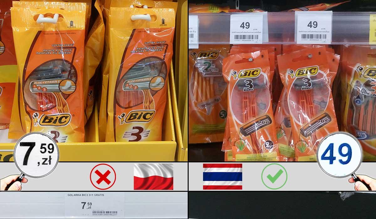 zakupy bangkok ceny ile kosztuje
