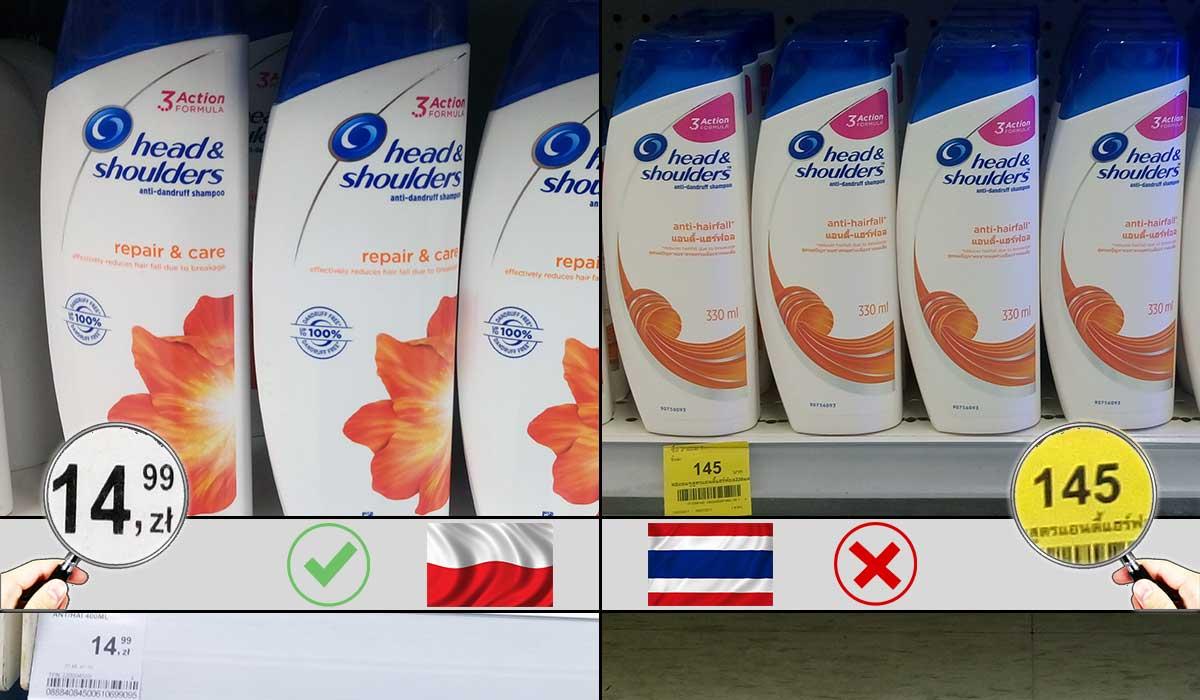 zakupy w bangkoku drogo ile cena baht