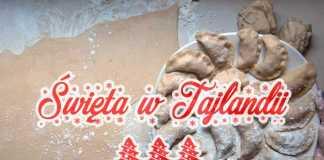 boże narodzenie w tajlandii swieta tajlandia pierogi jedzenie choinka zima snieg