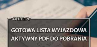 lista wyjazdowa checklista do pobrania aktywny pdf